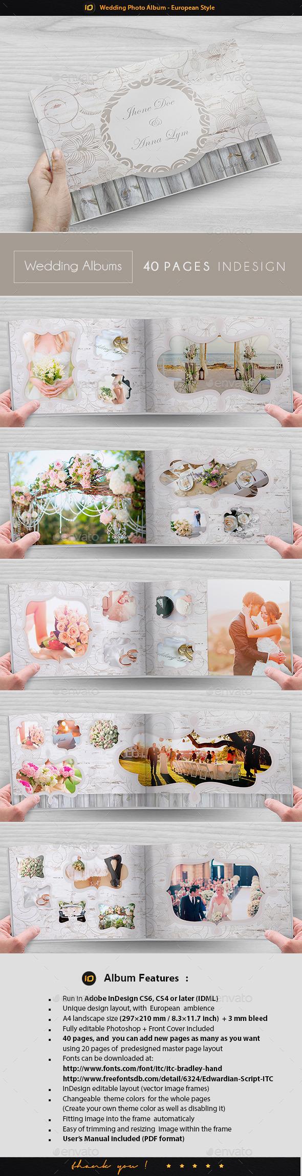 Wedding Photo Album Template European Style