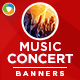 New Year Music Concert Banners - GraphicRiver Item for Sale