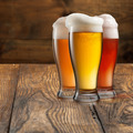 Different beer in glasses on wood - PhotoDune Item for Sale