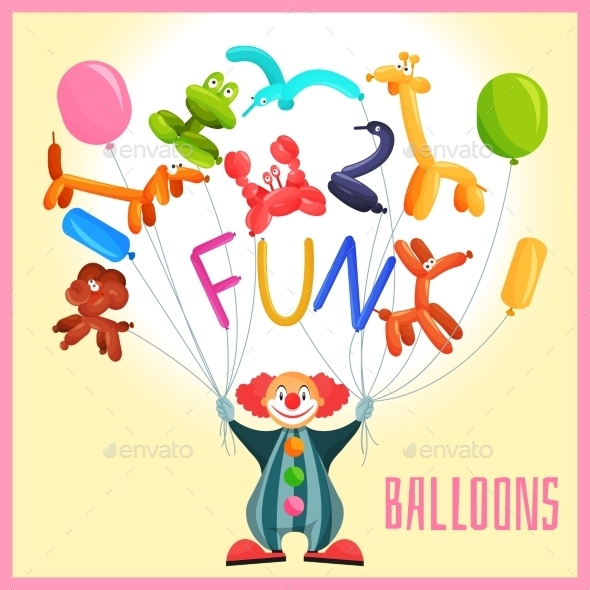GraphicRiver Clown with Balloons 9678712