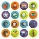 Tire Service Icon Set - GraphicRiver Item for Sale