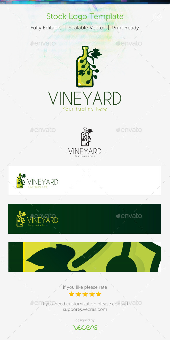 GraphicRiver VineYard Stock Logo Template 9678806