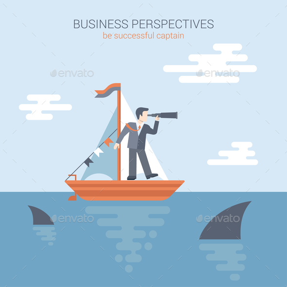 GraphicRiver Flat Style Business Perspective Concept 9678843