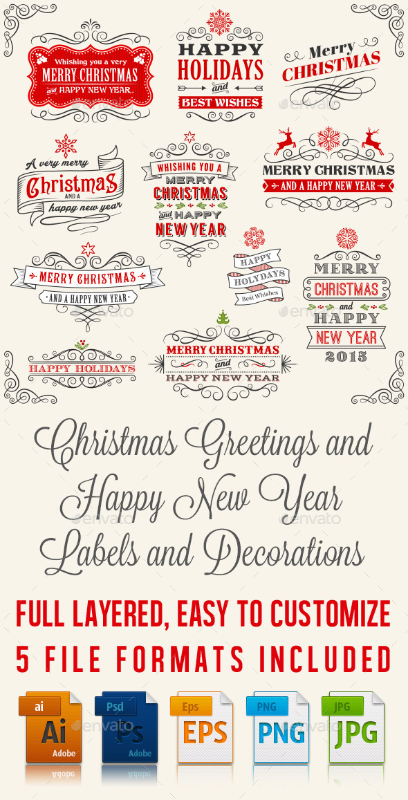 GraphicRiver Vector Christmas Label and Banners 9678851