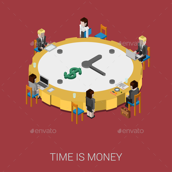 GraphicRiver Time is Money 9678859
