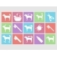 Dog Grooming Icons Set - GraphicRiver Item for Sale