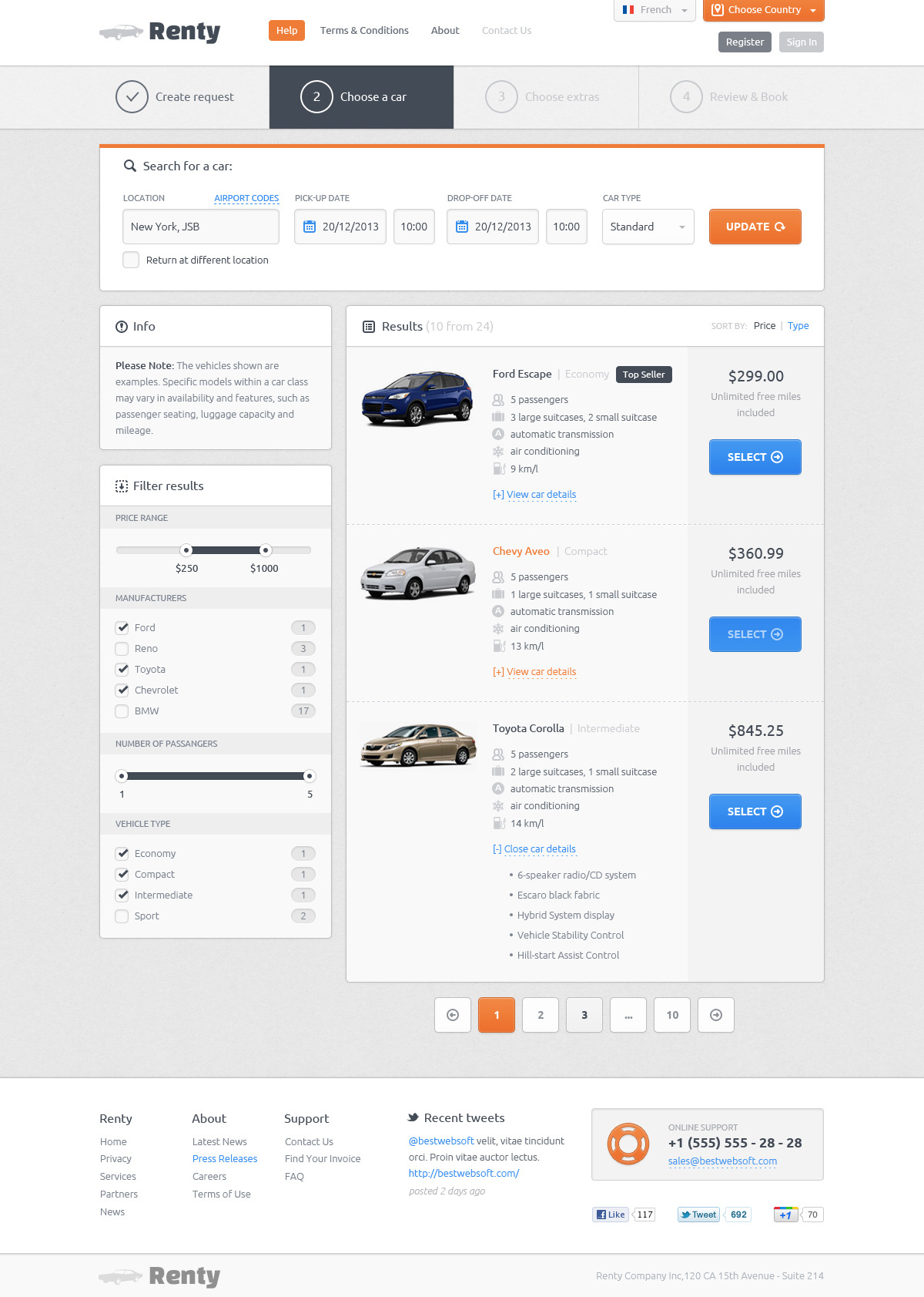 Renty - Car Rental & Booking HTML5 Template