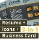 3-in-1 Deal: Resume Template + Icons + Business Card, Calendar S Template - GraphicRiver Item for Sale