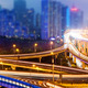 shanghai interchange overpass and elevated road in nightfall - PhotoDune Item for Sale