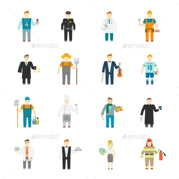 GraphicRiver Character Icons 9678953