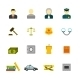 Crime and Punishments Icons Set - GraphicRiver Item for Sale