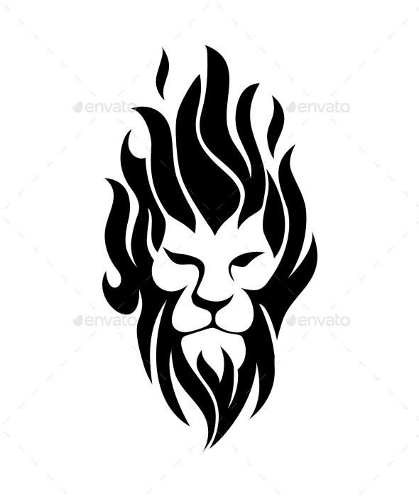 GraphicRiver Fire Lion 9678969