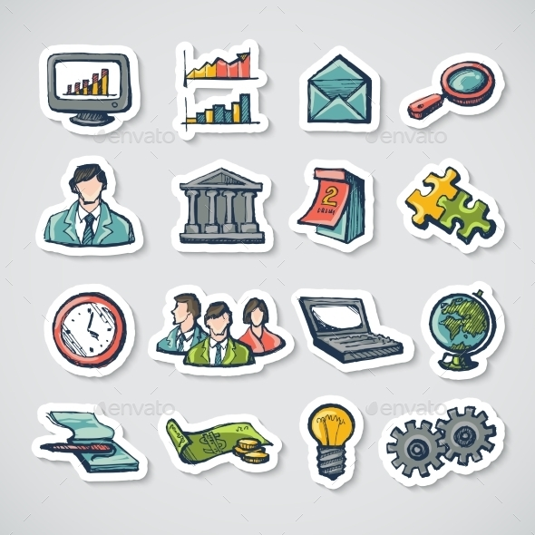 GraphicRiver Business Stickers Set 9678972