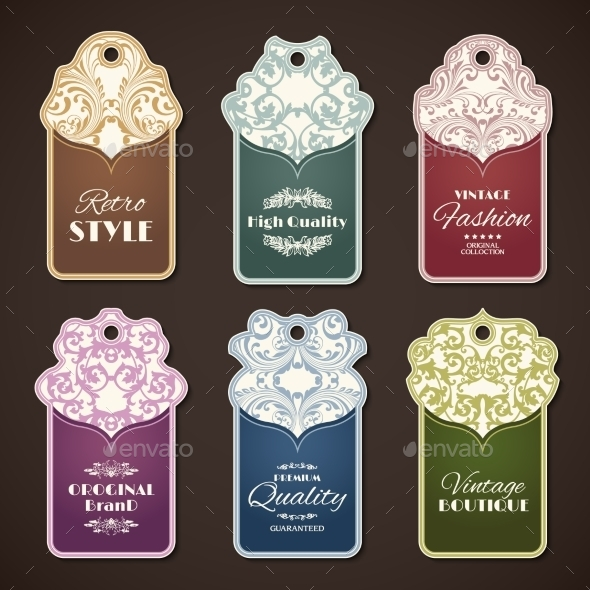 GraphicRiver Vintage Labels Set 9679011