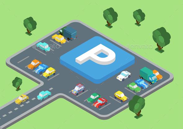 GraphicRiver Parking Lot 9679019