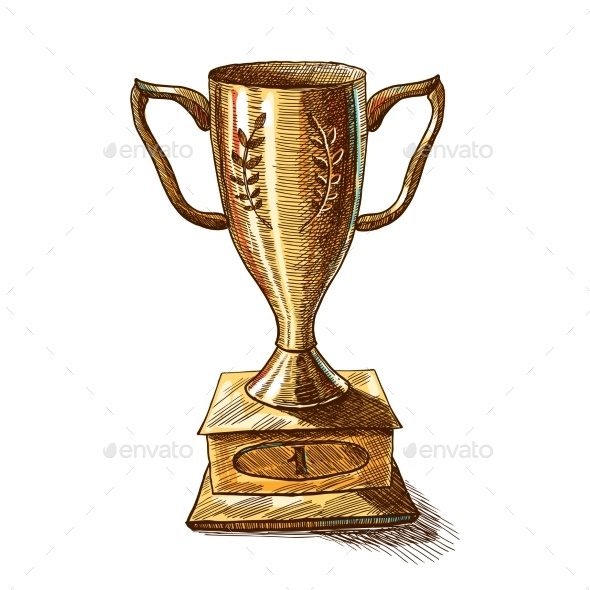 GraphicRiver Golden Trophy Cup 9679043