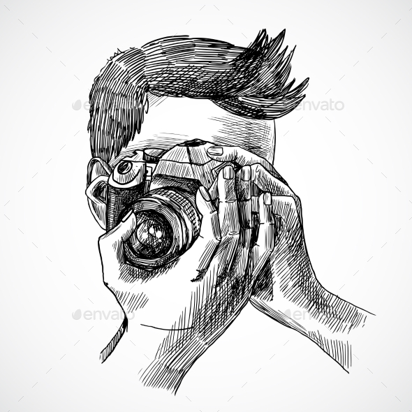 GraphicRiver Photographer Sketch Portrait 9679228