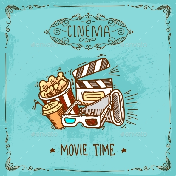 GraphicRiver Cinema Poster Sketch 9679232