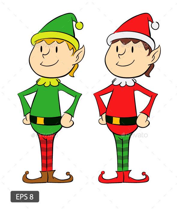 GraphicRiver Two Christmas Elf 9679242