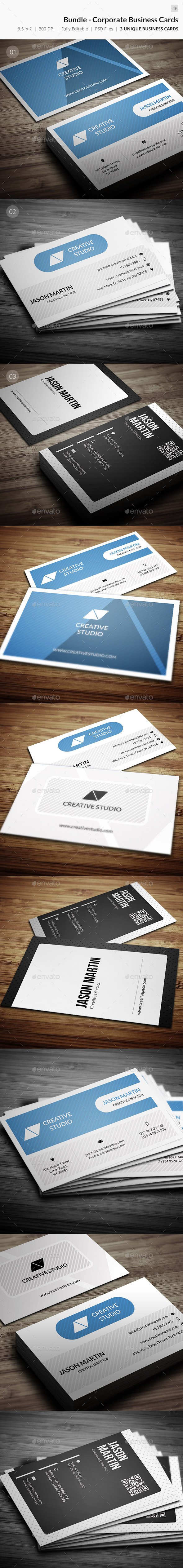 GraphicRiver Bundle Corporate Business Cards 50 9679415