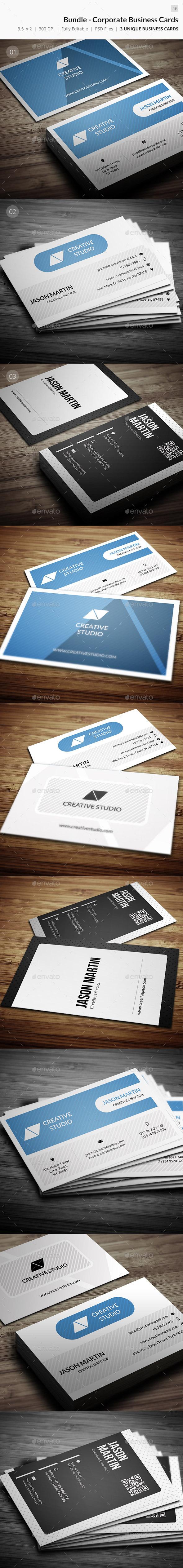 GraphicRiver Bundle Corporate Business Cards 50 9679415