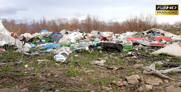 VideoHive Burning Garbage Dump Ecological Pollution 9679793