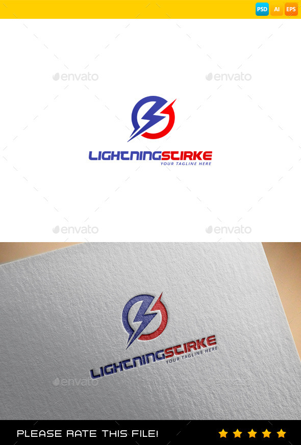 GraphicRiver Lightning Logo 9679835