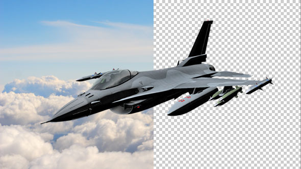 VideoHive Fighter Jet Flying 9679887