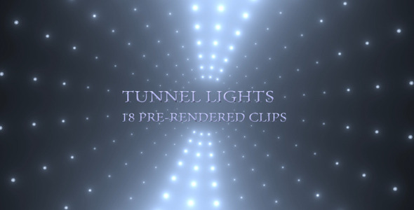 VideoHive Tunnel Lights 9679915