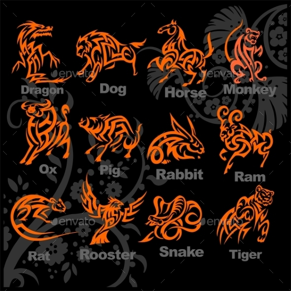 GraphicRiver Chinese Horoscope Set 9680080