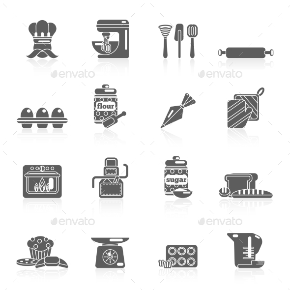 GraphicRiver Bakery Icon Black 9680115