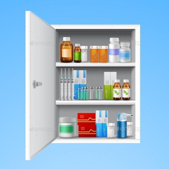 GraphicRiver Medicine Cabinet Realistic 9680170