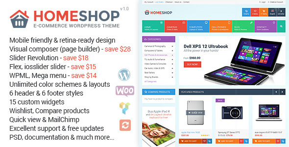 ThemeForest Home Shop Premium WooCommerce Theme 9513996