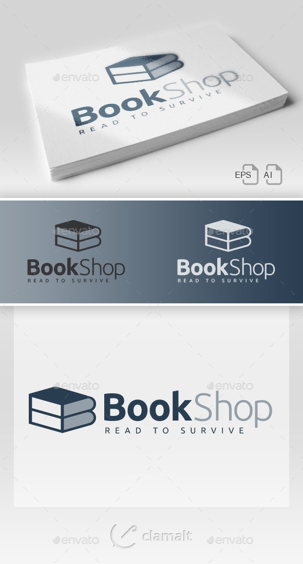 GraphicRiver Book Shop Bis Logo 9680355