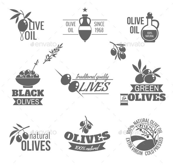 GraphicRiver Olives Label Set 9680359