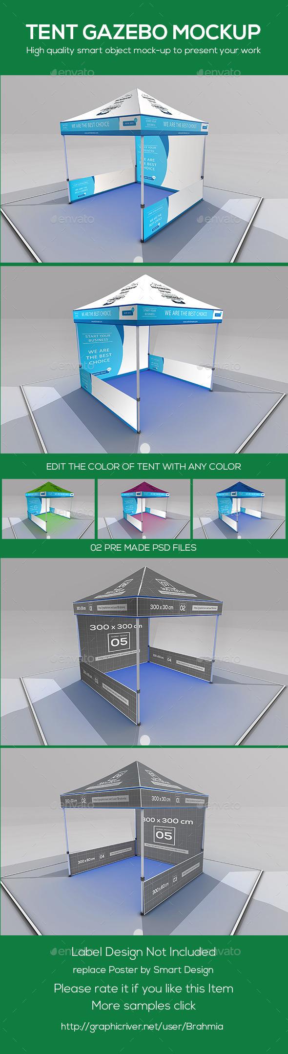 GraphicRiver Tent Gazebo Mockup 9680377