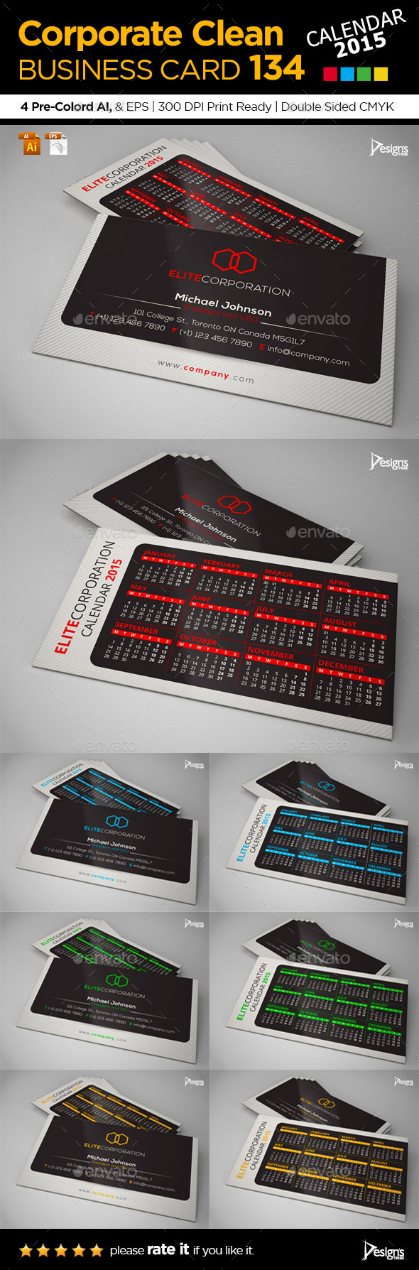 GraphicRiver 2015 Business Card 9680433