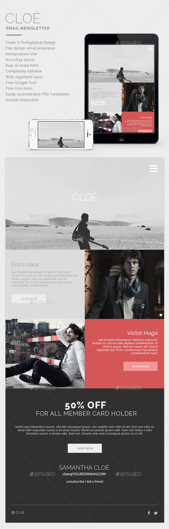 GraphicRiver Email Newsletter Cloe 9631344