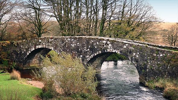 VideoHive Old Stone Bridge Over River 9680443