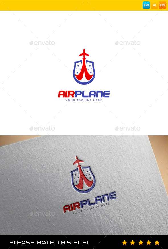 GraphicRiver Airplane Logo 9680459