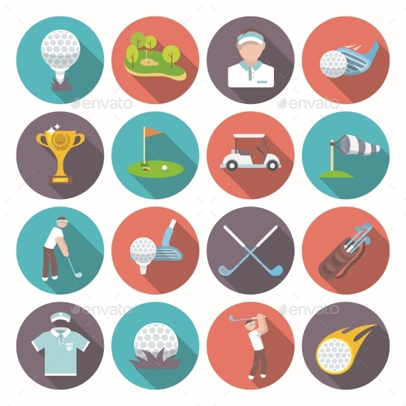 GraphicRiver Golf Icons Set 9680505
