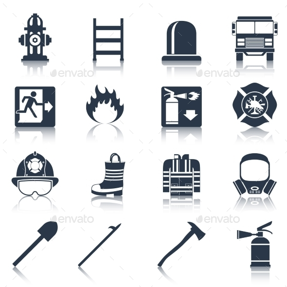 GraphicRiver Firefighter Icons 9680649
