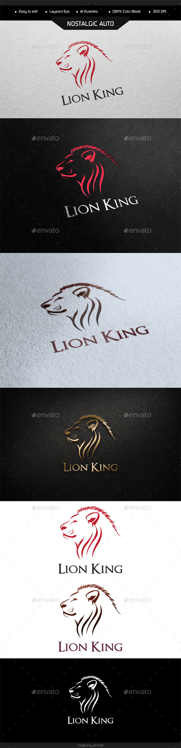 GraphicRiver Lion King Logo Template 9680670