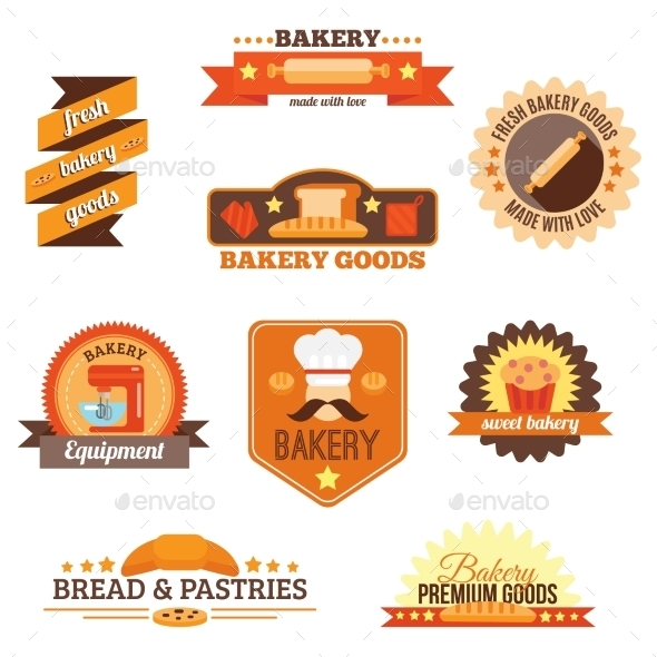 GraphicRiver Bakery Label Set 9680693