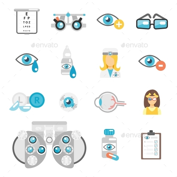GraphicRiver Oculist Flat Icons 9680700