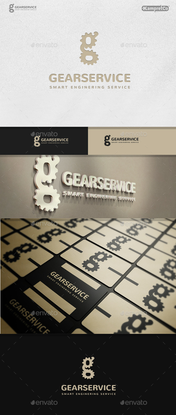 GraphicRiver Gear Service Logo 9642010