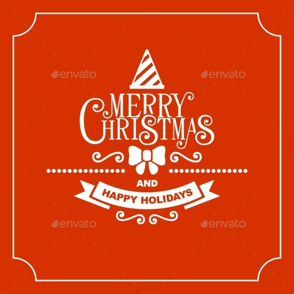 GraphicRiver Red Christmas Greeting Card Background 9680838