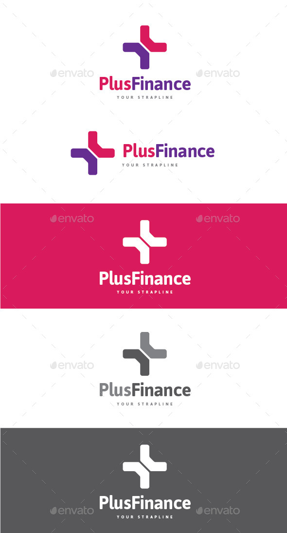 GraphicRiver Plus Finance Logo 9680922