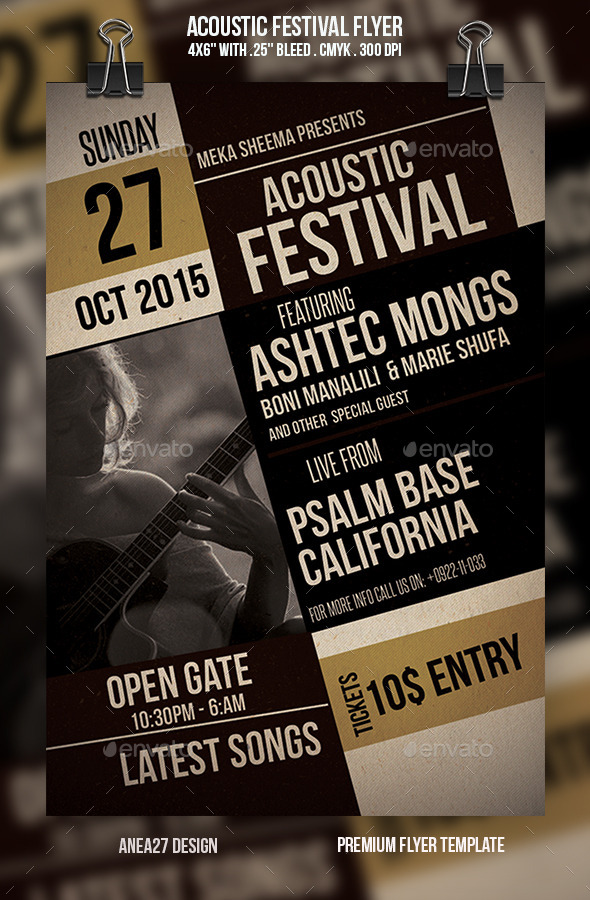 GraphicRiver Acoustic Festival Flyer 9680999