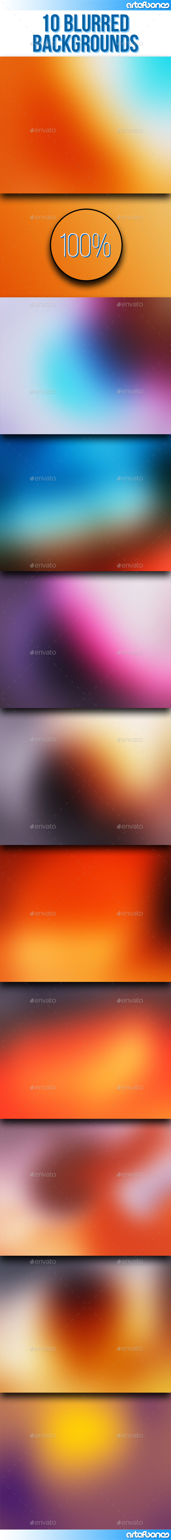 GraphicRiver 10 Blurred Backgrounds Vol.2 9681016
